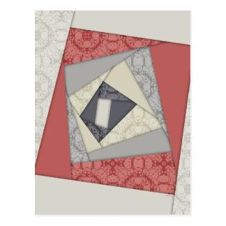 Abstract Geometric Rotation Postcard