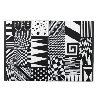abstract geometric shapes black white pattern hand iPad air cover