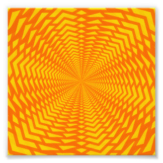 Abstract Geometric Sun-Like Pattern Photo Print