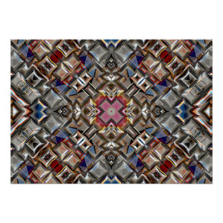 Abstract Geometric Surface Poster