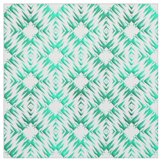 Abstract geometric teal pattern. fabric