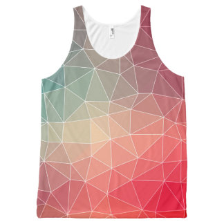 Abstract Geometric Triangulate Design All-Over Print Singlet