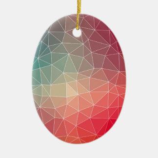 Abstract Geometric Triangulate Design Ceramic Oval Decoration