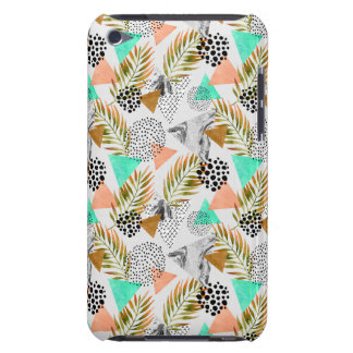 Abstract Geometric Tropical Leaf Pattern iPod Case-Mate Cases