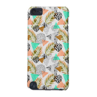 Abstract Geometric Tropical Leaf Pattern iPod Touch (5th Generation) Covers
