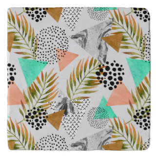 Abstract Geometric Tropical Leaf Pattern Trivet