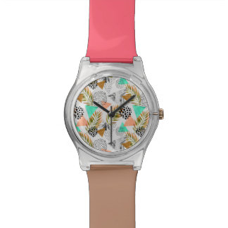 Abstract Geometric Tropical Leaf Pattern Watch