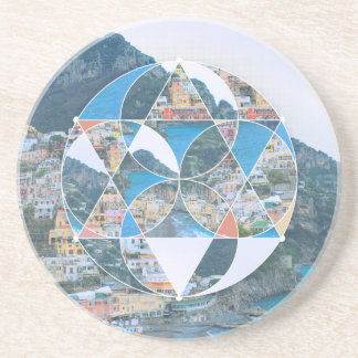 Abstract Geometric Village Drink Coaster