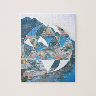 Abstract Geometric Village Jigsaw Puzzle