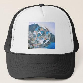Abstract Geometric Village Trucker Hat