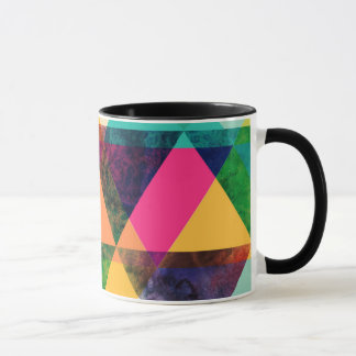 Abstract Geometric watercolor triangle pattern Mug