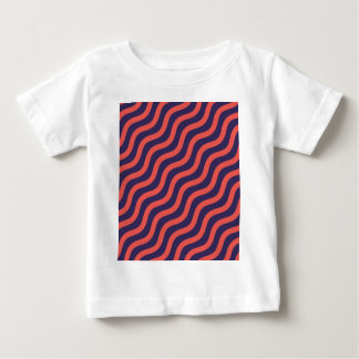 Abstract geometric wave pattern baby T-Shirt
