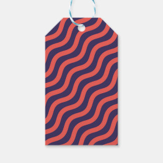 Abstract geometric wave pattern gift tags