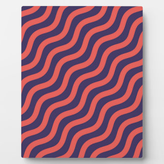Abstract geometric wave pattern plaque