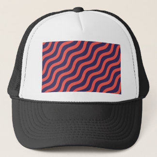 Abstract geometric wave pattern trucker hat