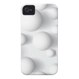 Abstract Geometric White Balls Blackberry Bold iPhone 4 Cover