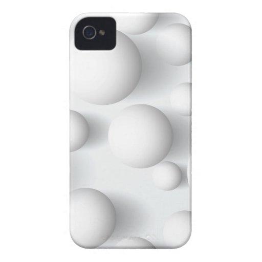 Abstract Geometric White Balls Blackberry Bold Blackberry Cases
