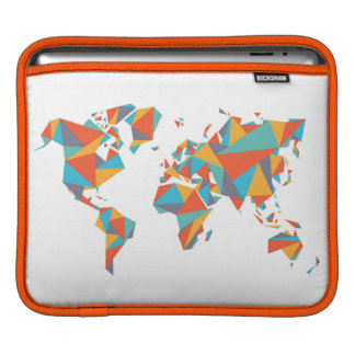 Abstract Geometric World Map iPad Sleeve