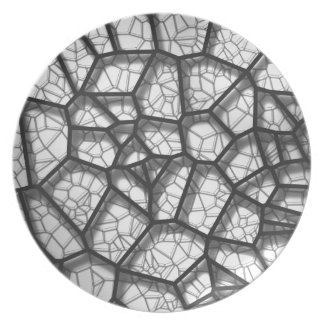 Abstract geometrical science concept voronoi low p plate