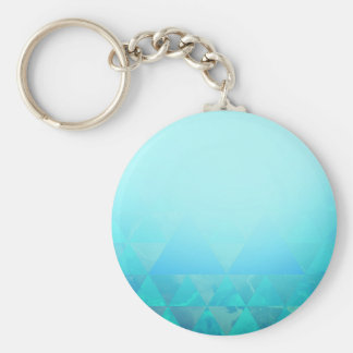 Abstract Geometry Basic Round Button Key Ring