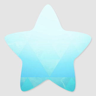 Abstract Geometry Star Sticker