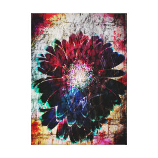 Abstract Gerbera Daisy Canvas Print