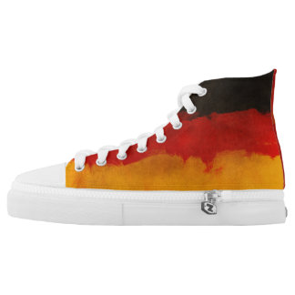 Abstract German Flag Colors High Tops