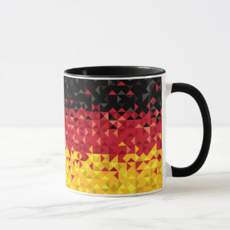 Abstract Germany Flag, German Colors, Poly art Mug