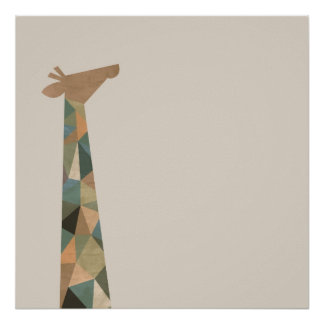 Abstract Giraffe Poster