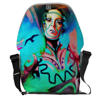 Abstract girl courier bags