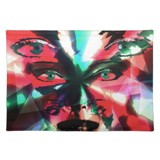 Abstract girl placemat