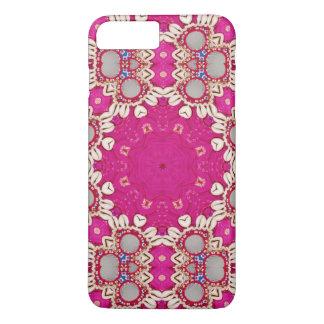 abstract girly Ethnic seashells bohemian fuchsia iPhone 7 Plus Case