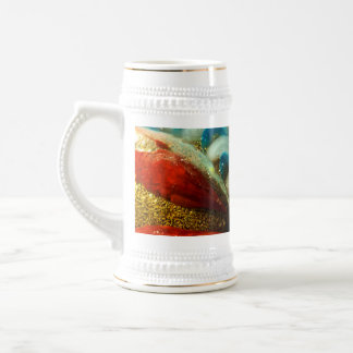Abstract Glass Beer Steins