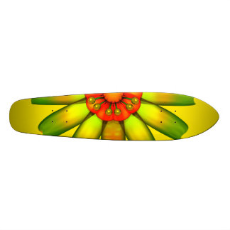 Abstract Glass Flower Skate Board Deck