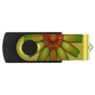 Abstract Glass Flower. Swivel USB 2.0 Flash Drive