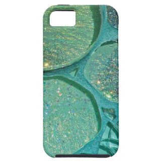 Abstract Glittery Green Tough iPhone 5 Case