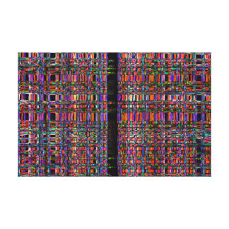 Abstract glowing neon lines pattern canvas print