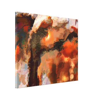 Abstract Glowing Rocks Canvas Print