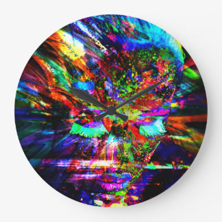 Abstract Goddess Large Clock