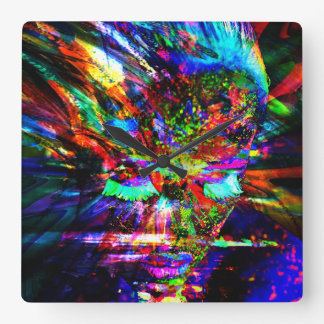 Abstract Goddess Square Wall Clock