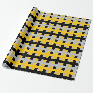 Abstract Gold, Black and Silver Wrapping Paper