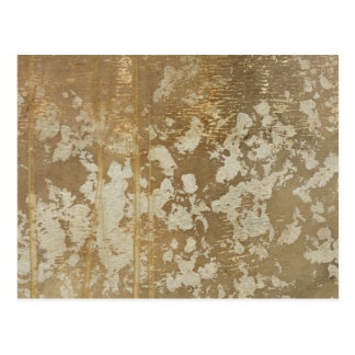 Abstract Gold Painting with Silver Speckles Postcard