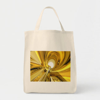 Abstract Gold Rings Canvas Bag