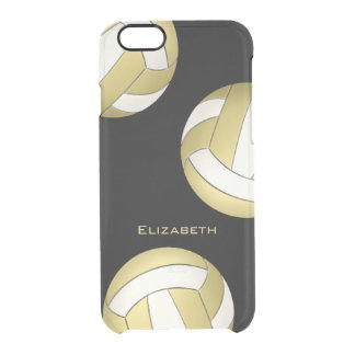 abstract gold white volleyball women clear iPhone 6/6S case