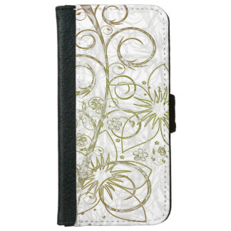 Abstract Golden Flowers Iphone Case