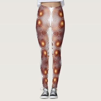 Abstract golden spiral. leggings