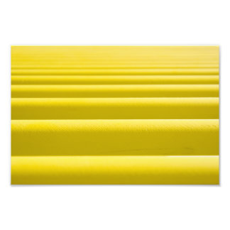 Abstract Golden Yellow Horizontal Stripe Bars Photographic Print