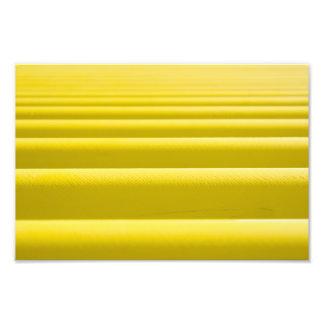 Abstract Golden Yellow Horizontal Stripe Bars Photographic Print