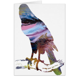 Abstract Goshawk silhouette. Card