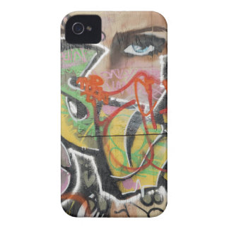 abstract graffiti art mural text type womans face iPhone 4 cases